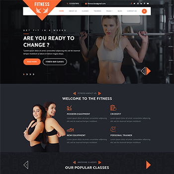 FITNESS GYM WORDPRESS THEME